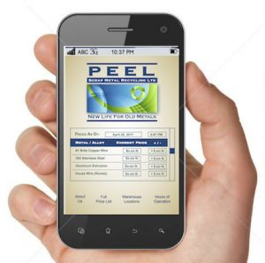 Keep current on prices metal prices with the Peel Scrap Metal Recycling App